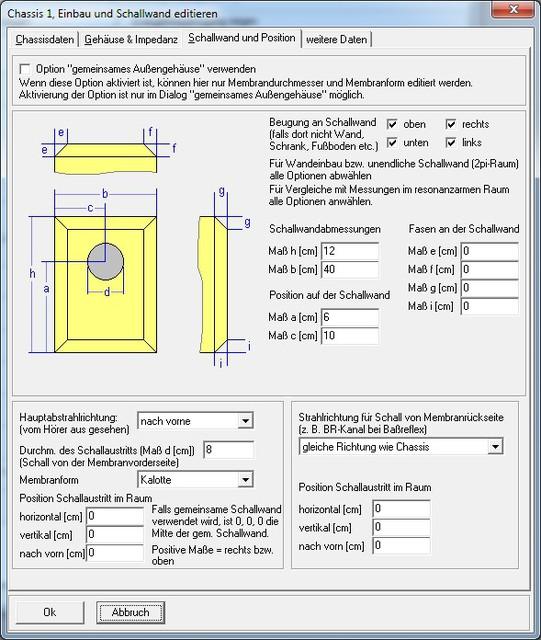 3FE25 Chassis_Menue2_Schallwand_u_Position