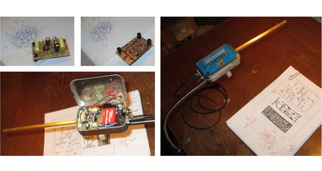 Messmikro: ElektretKapsel U Vorverstaerker