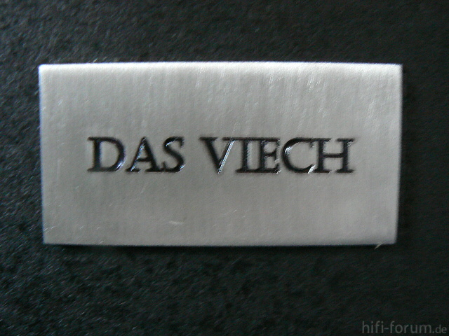 """Schild """"Das Viech"""""""