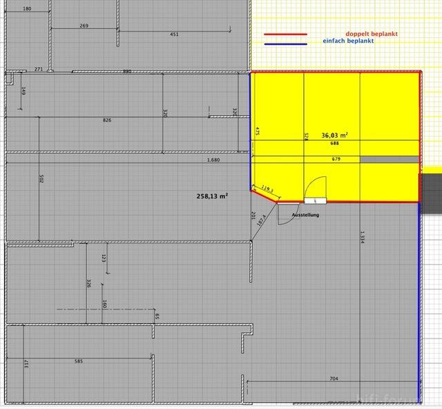Raumplan Für Trockenbau 800