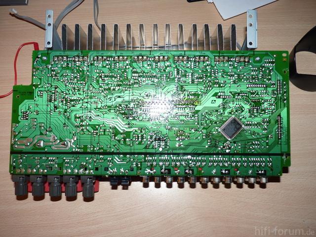 Rückseite Platine Komplettansicht Sony STR-DE 497