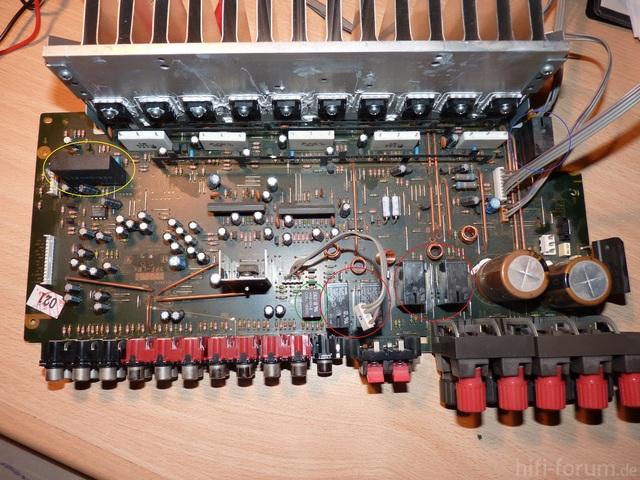 Sony STR-DE 497 Platine Oberseite