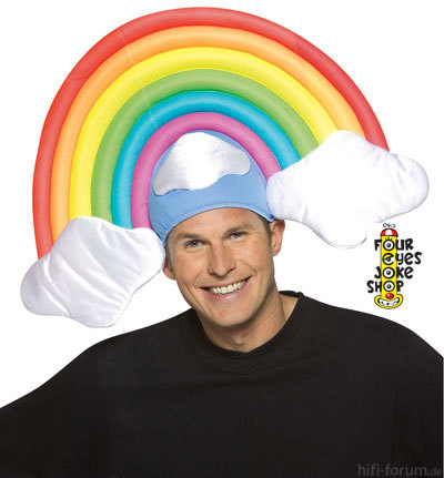 Rainbow Crazy Hat