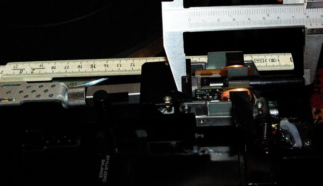 Tangential Tonarm Sony PS-X555ES, Maße