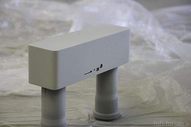 Mobile Audioplayer, Gehäuse nach den ersten paar Schichten Filler