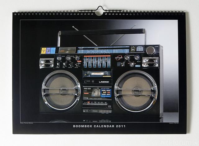 Boombox Calendar 2011