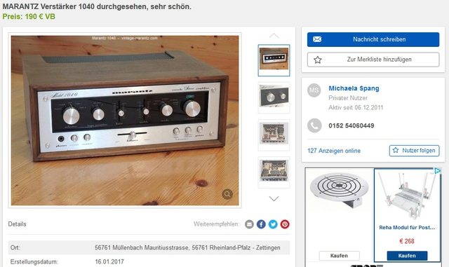 Marantz Copyright 1040