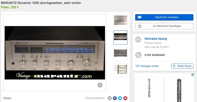 Marantz Copyright 1550