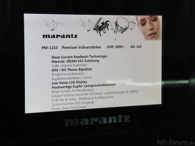 Marantz PM-11S3 Auf Der High End In München 2012