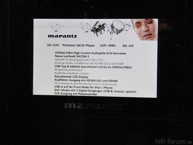 Marantz SA-11S3 Auf Der High End In München 2012
