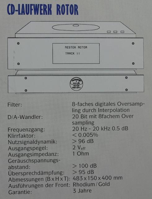 Restek Rotor Specifications