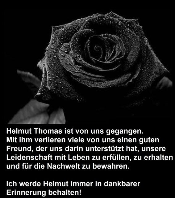 Trauer um Helmut Thomas