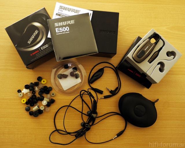Shure E500