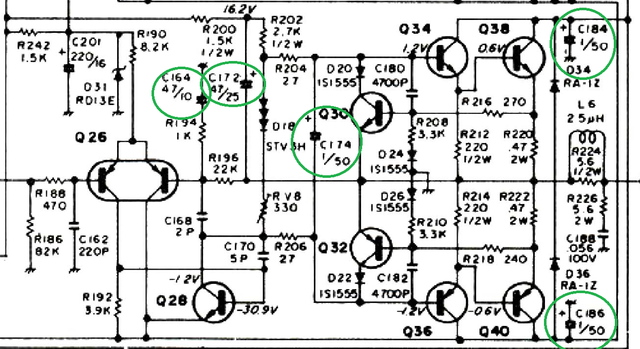 Replaced Capacitors Mainamp