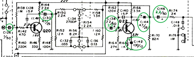Replaced Capacitors Preamp-tone