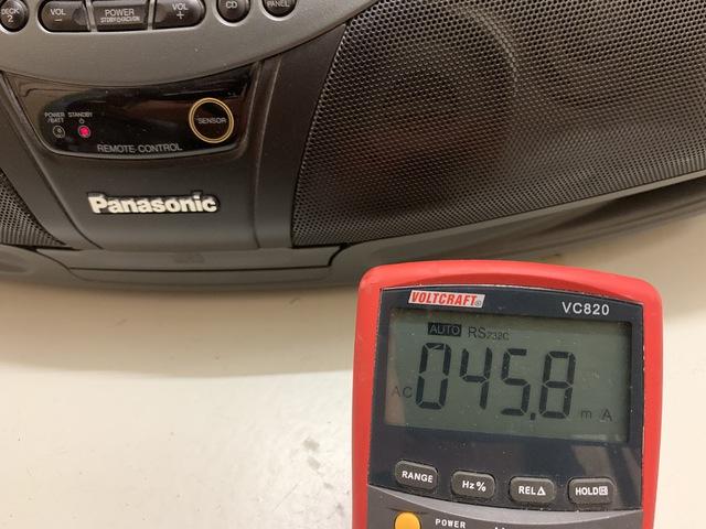 Panasonic DT 75 Ausgeschaltet