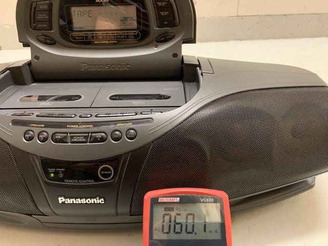 Panasonic DT 75 Eingeschaltet