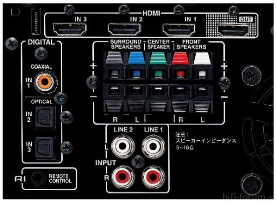 ONKYO HTX-22HDX REAR