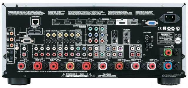Onkyo TX NR 808 3 Rear