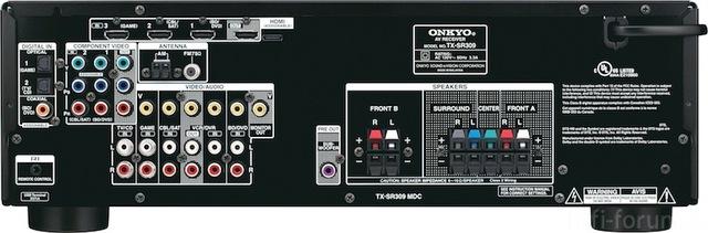 Onkyo TX SR309 Rear