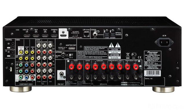 Pioneer VSX 921 Back Eu