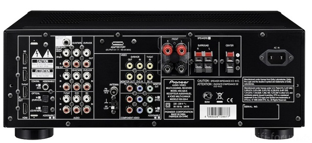 Pioneer Vsx520 Back