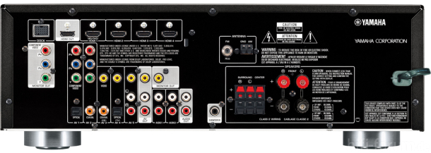 Yamaha RX V371 Back 610x217