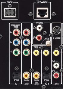 Yamaha RX V671 Ruckansicht PHONO