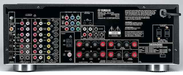 Yamaha Rx V740 Receiver Rear Panel Large