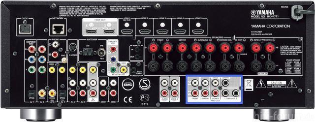 Yamaha Rx V771 Network Av Back Side 142751