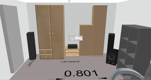 Sicht Auf Schrankwand + Front Lautsprecher, Center