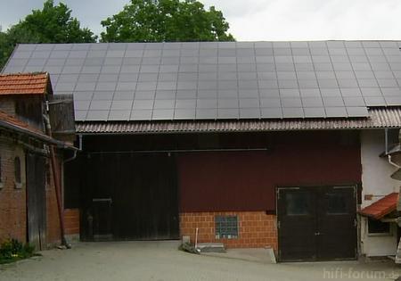 Asbestdach Mit Solarmodulen