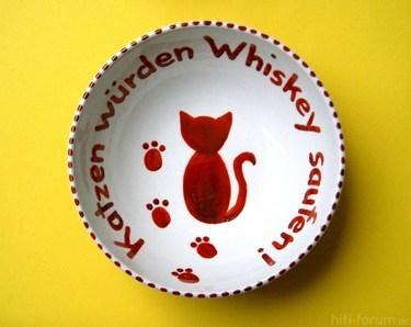 Katzen Würden Whiskey Saufen-Pott