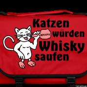 Katzen Würden Whisky Saufen