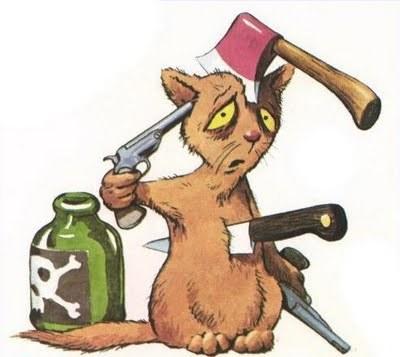 Selbstmord-Katze