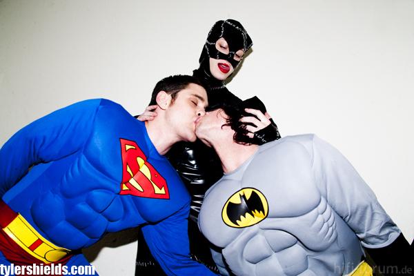 Superman, Catmwoman, Batman