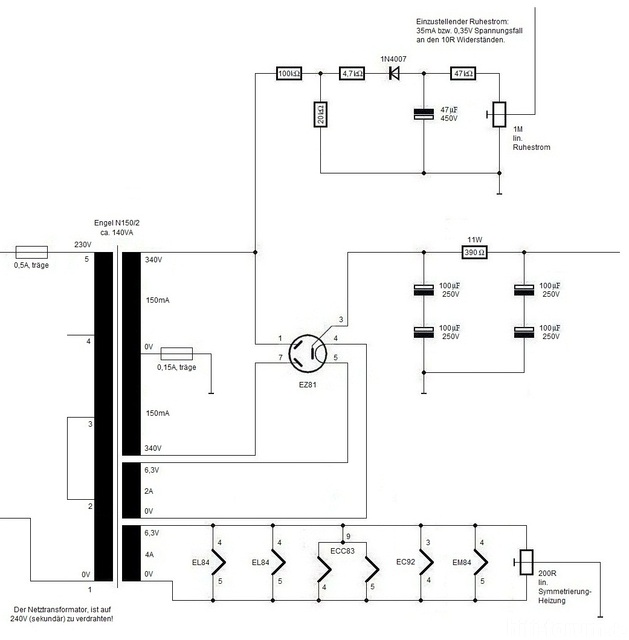 Gegentaktendstufe mit EL84, Röhrengeräte - HIFI-FORUM