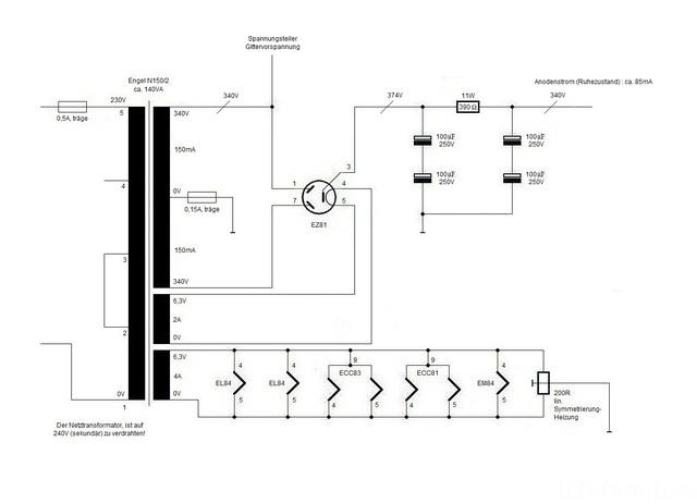 Gegentaktendstufe mit EL84, Röhrengeräte - HIFI-FORUM (Seite 2)