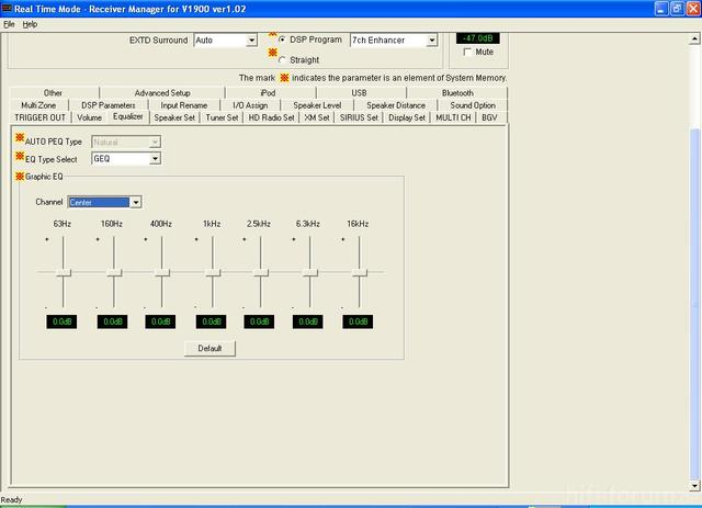 Yamaha RX-V1900 Receiver Manager