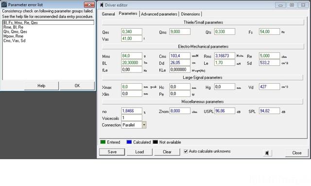 Parameter Error