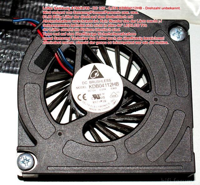 Samsung A786 / A789 Inside 2 Lüfter