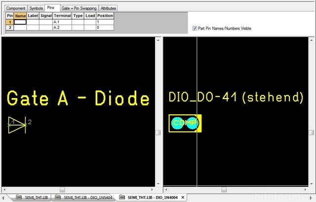 Korrekter Bestückungsdruck Für Diode