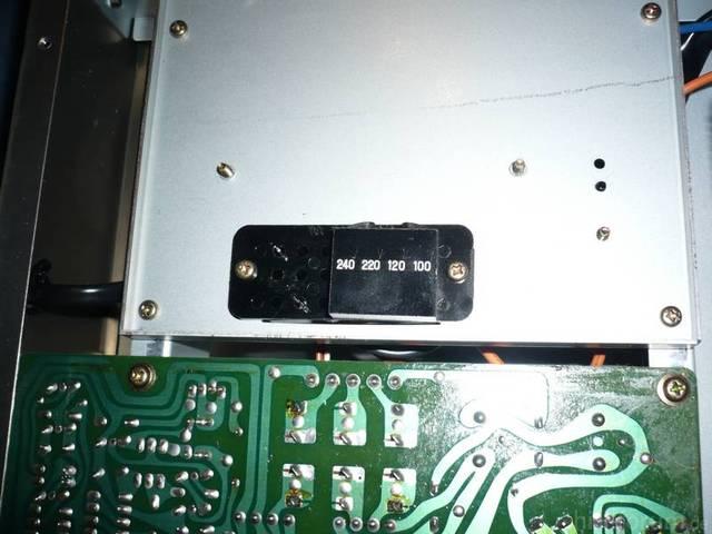Luxman C02 Netzteil Spannungsw?hler