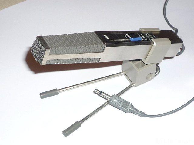 Aiwa Cm Z3 Microphone Enregistrement Audio Miniature Zoom Externe Argent Avec Pied Amovible 16995723