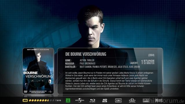 Bourne [2], Die Verschwörung Mkv Sheet