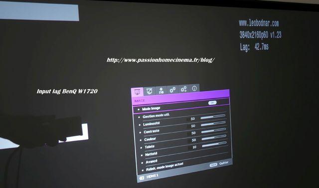 input lag BENQ W1720