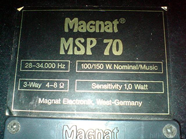 Daten Magnat MSP 70