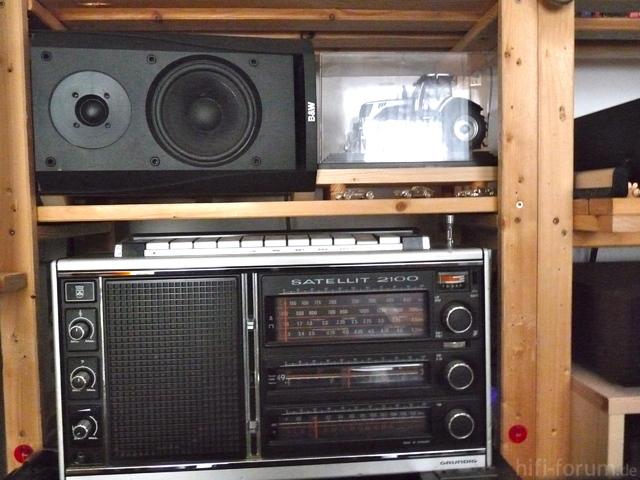 Boxen B&W 302, Liegend