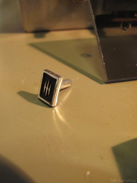 Scott Logo as clip holder for dial glass