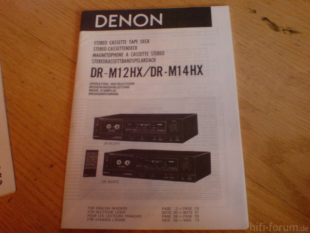 Anleitung DENON DR-M12HX/DR-M14HX